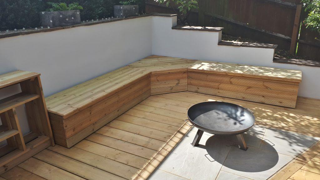 Garden bench seat